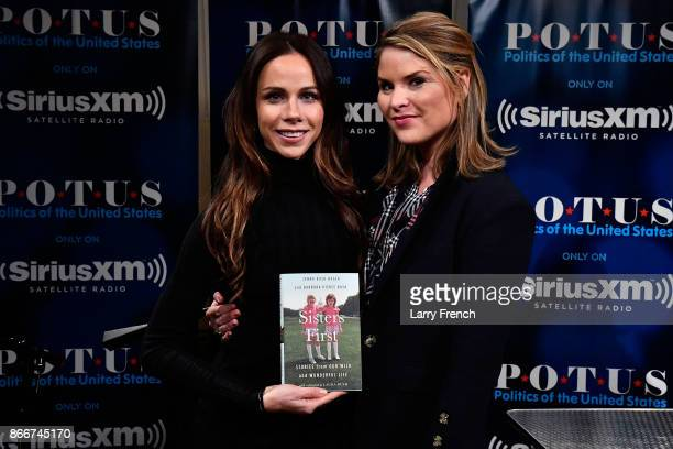 Sisters Jenna BushHager and Barbara Bush discuss their new book 'Sisters First Stories from Our Wild and Wonderful Life' during a SiriusXM 'Town...