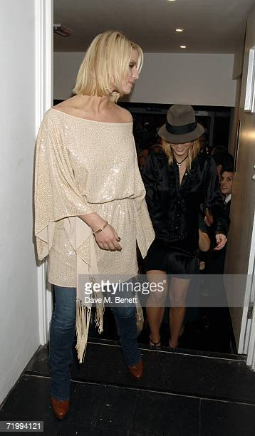 Sisters Jessica and Ashlee Simpson attend the after party following Ashlee Simpson's British stage debut playing Roxie Hart in longrunning musical...