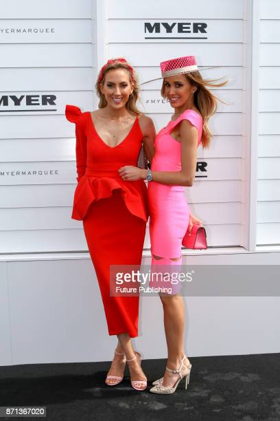 Sisters Kate Twigley and Rebecca Judd pose at the Melbourne Cup Carnival on November 7 2017 in Melbourne Australia Chris Putnam / Barcroft Images