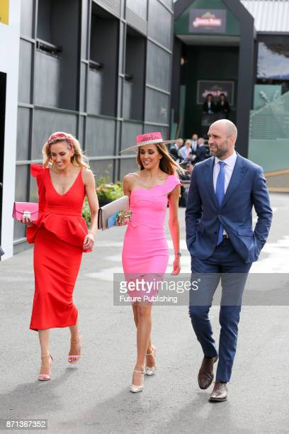 Sisters Kate Twigley Rebecca Judd and Chris Judd arrive at the Melbourne Cup CarnivalPHOTOGRAPH BY Chris Putnam / Barcroft Images 44 207 033 1031...