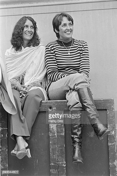 Sisters Mimi Farina and Joan Baez attend a Bread and Roses benefit concert A charity organization Bread and Roses was founded in 1974 by Farina and...