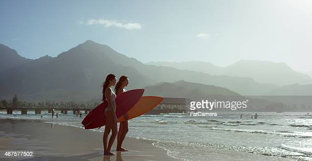 Sisters Ready to Surf