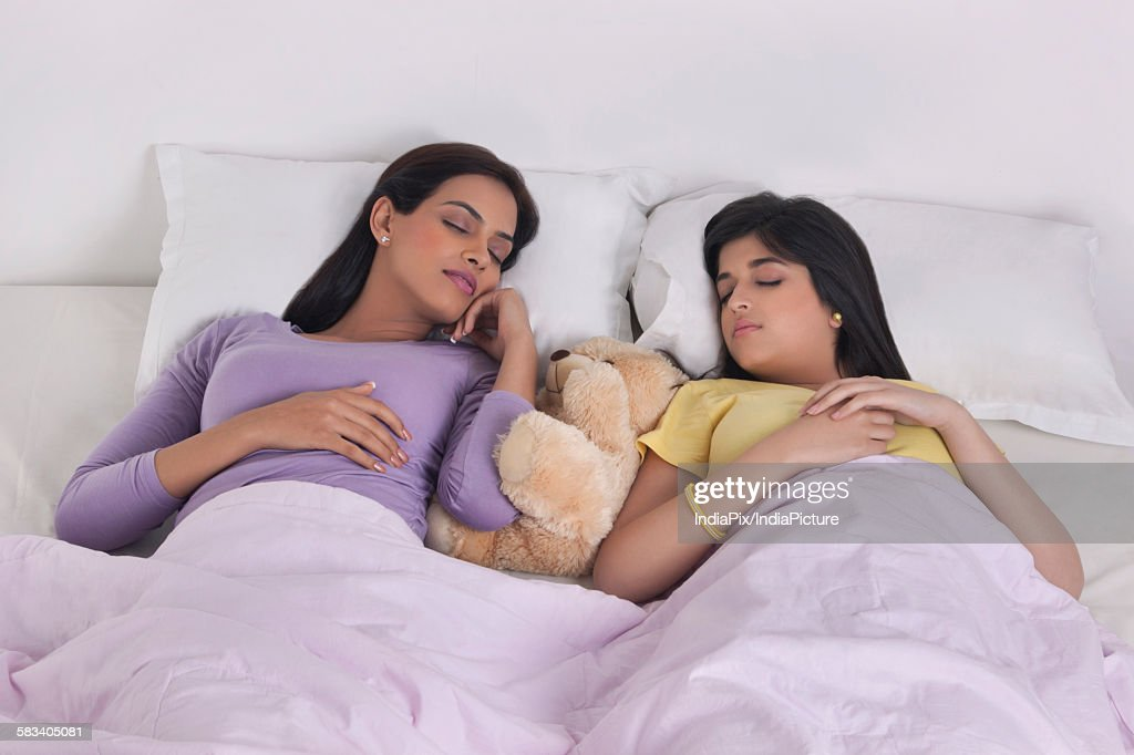 Sisters sleeping : Stock Photo