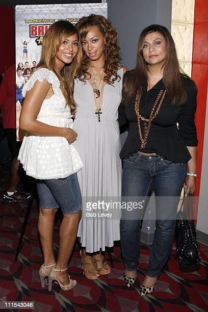 Sisters Solange KnowlesSmith and Beyonce Knowles join their mother Tina Knowles at special August 2 hometown screening of Bring it On All or Nothing...