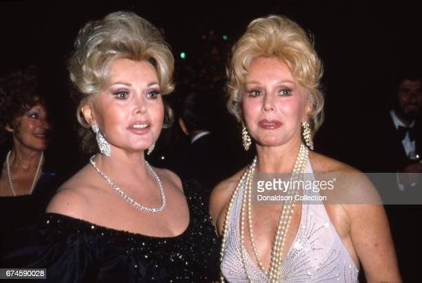 Sisters Zsa Zsa Gabor and Eva Gabor attend an event in October 1980 in Los Angeles California