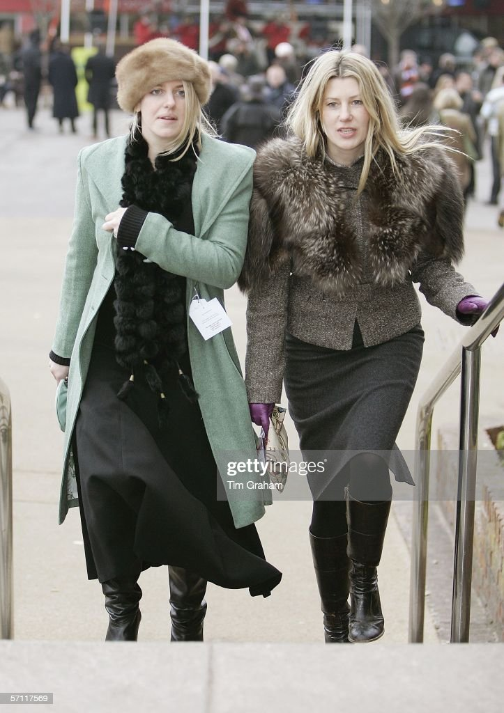 Sisters-in-law, Sara Parker-Bowles and Laura Parker-Bowles attend the fourth day of Cheltenham Races on March 17, 2006 in Cheltenham, England.