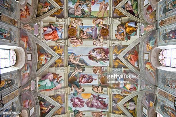 sistine chapel - cappella sistina foto e immagini stock