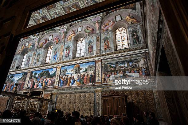sistine chapel vatican museum rome - cappella sistina foto e immagini stock
