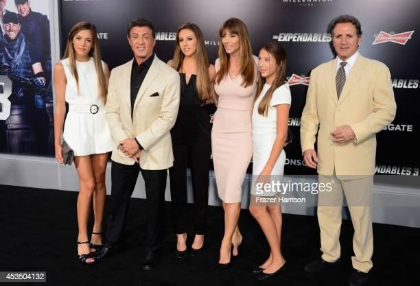 Sistine Rose actor Sylvester Stallone Sophia Rose Stallone Jennifer Flavin Stallone Scarlet Rose Stallone and Frank Stallone attend Lionsgate Films'...