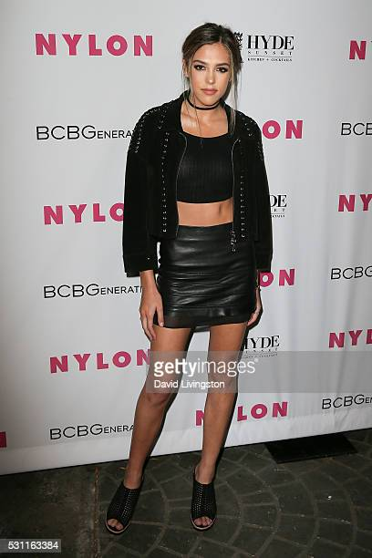 Sistine Rose Stallone arrives at NYLON and BCBGeneration's Annual Young Hollywood May Issue Event at HYDE Sunset Kitchen Cocktails on May 12 2016 in...
