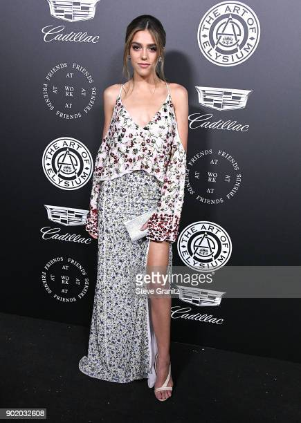 Sistine Rose Stallone arrives at the The Art Of Elysium's 11th Annual Celebration Heaven on January 6 2018 in Santa Monica California