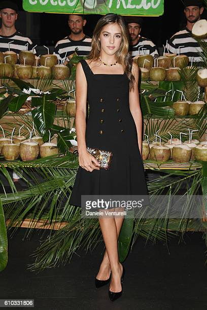 Sistine Rose Stallone attends the Dolce And Gabbana show during Milan Fashion Week Spring/Summer 2017 on September 25 2016 in Milan Italy