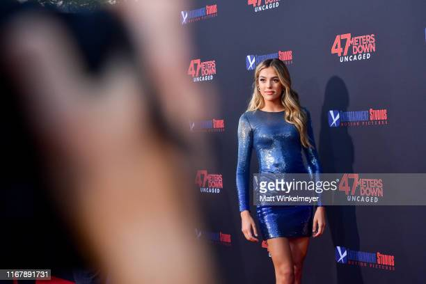 Sistine Rose Stallone attends the LA Premiere of Entertainment Studios' 47 Meters Down Uncaged at Regency Village Theatre on August 13 2019 in...