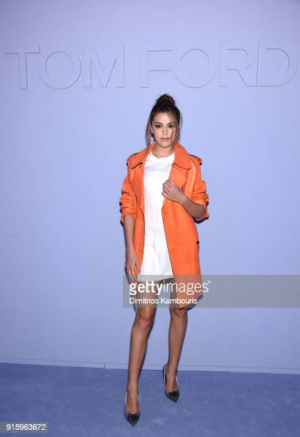 Sistine Rose Stallone attends the Tom Ford Fall/Winter 2018 Women's Runway Show at the Park Avenue Armory on February 8 2018 in New York City