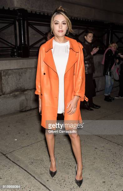 Sistine Rose Stallone is seen arriving to Tom Ford Women's Fall/Winter 2018 fashion show during New York Fashion Week at Park Avenue Armory on...