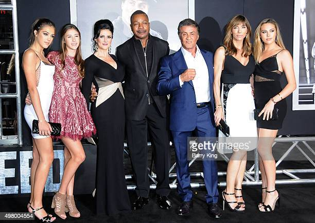 Sistine Rose Stallone Scarlet Rose Stallone Jennifer Peterson actor Carl Weathers actor/producer Sylvester Stallone Jennifer Flavin and Sophia Rose...