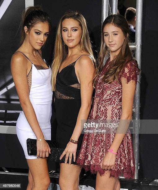 Sistine Rose Stallone Sophia Rose Stallone and Scarlet Rose Stallone arrive at the premiere of Warner Bros Pictures' Creed at Regency Village Theatre...