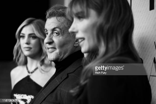 """Sistine Rose Stallone, Sylvester Stallone and Jennifer Flavin attend the premiere of HBO Documentary Film """"Very Ralph"""" at The Paley Center for Media..."""