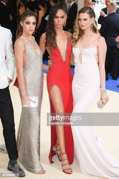Sistine Stallone and Joan Smalls and Behati Prinsloo attend 'Rei Kawakubo/Comme des Garcons Art Of The InBetween' Costume Institute Gala Arrivals at...
