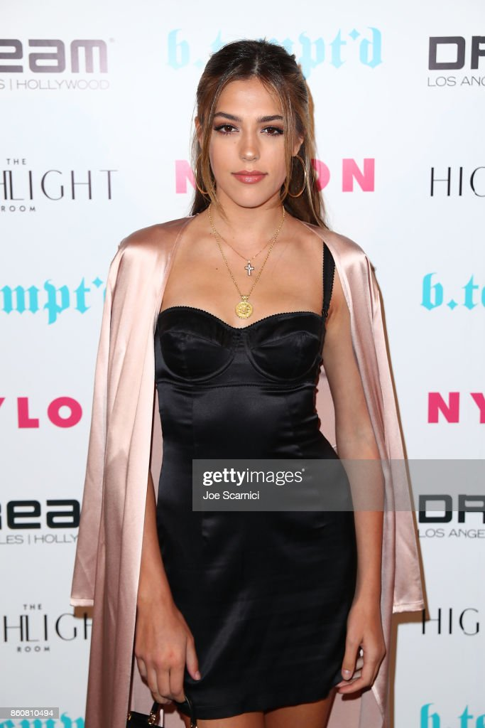 Sistine Stallone arrives at NYLON's It Girl Party at The Highlight Room at the Dream Hollywood on October 12, 2017 in Hollywood, California.