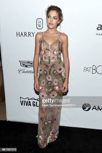 Sistine Stallone at amfAR Los Angeles 2017 at Ron Burkle's Green Acres Estate on October 13 2017 in Beverly Hills Californi