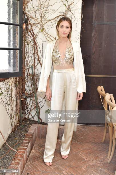 Sistine Stallone attends Lynn Hirschberg Celebrates W Magazine's It Girls With Dior at AOC on January 6 2018 in Los Angeles California