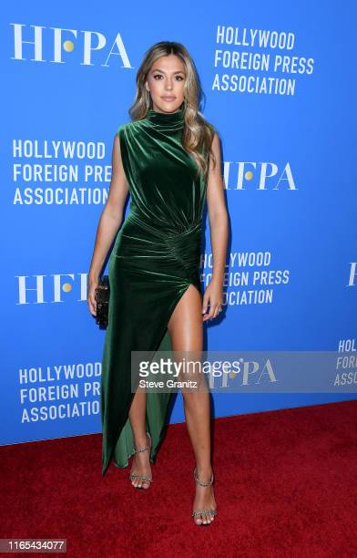 Sistine Stallone attends the Hollywood Foreign Press Association's Annual Grants Banquet at Regent Beverly Wilshire Hotel on July 31, 2019 in Beverly...