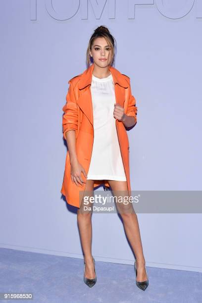 Sistine Stallone attends the Tom Ford Women's Fall/Winter 2018 fashion show during New York Fashion Week at Park Avenue Armory on February 8 2018 in...