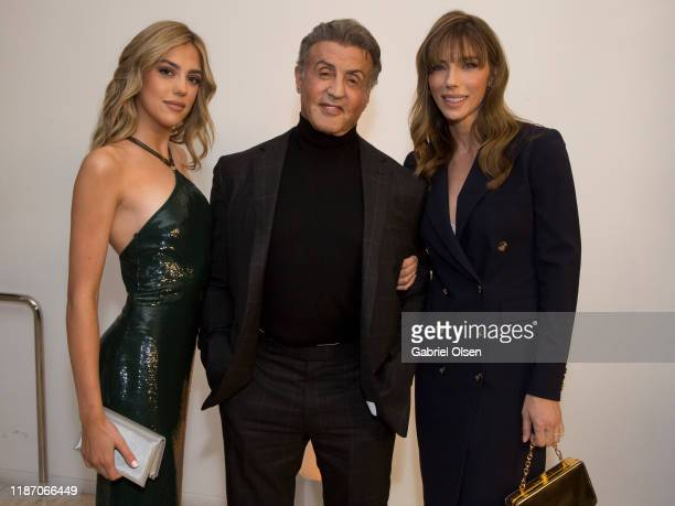 """Sistine Stallone, Sylvester Stallone and Jennifer Flavin attend the Premiere Of HBO Documentary Film """"Very Ralph"""" at The Paley Center for Media on..."""