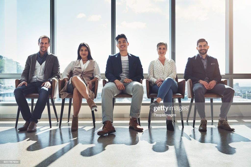 sit back and watch us make success happen : Stock Photo