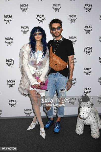 Sita Abellan and Bill Kaulitz attend the MCM Fashion Show Spring/Summer 2019 during the 94th Pitti Immagine Uomo on June 13 2018 in Florence Italy