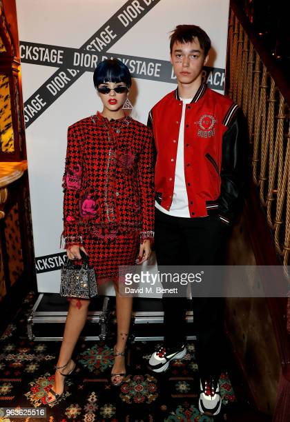 Sita Abellan and Sasha Trautvein attend the Dior Backstage Launch Party at Loulou's on May 29 2018 in London England