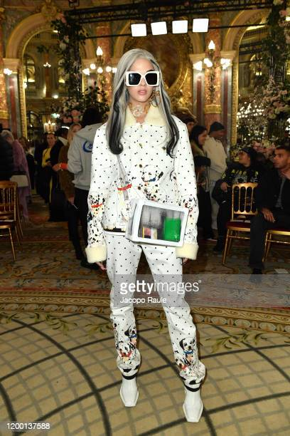 Sita Abellan attends the Casablanca Men Menswear Fall/Winter 20202021 show as part of Paris Fashion Week on January 17 2020 in Paris France