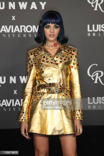 Sita Abellan attends the CR Runway x LuisaViaRoma Event during Pitti Immagine Uomo 96 on June 13 2019 in Florence Italy
