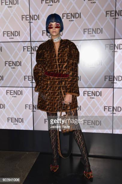 Sita Abellan attends the Fendi show during Milan Fashion Week Fall/Winter 2018/19 on February 22 2018 in Milan Italy