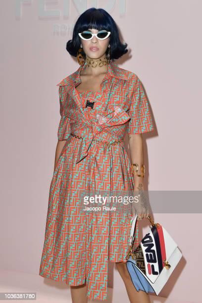 Sita Abellan attends the Fendi show during Milan Fashion Week Spring/Summer 2019 on September 20, 2018 in Milan, Italy.