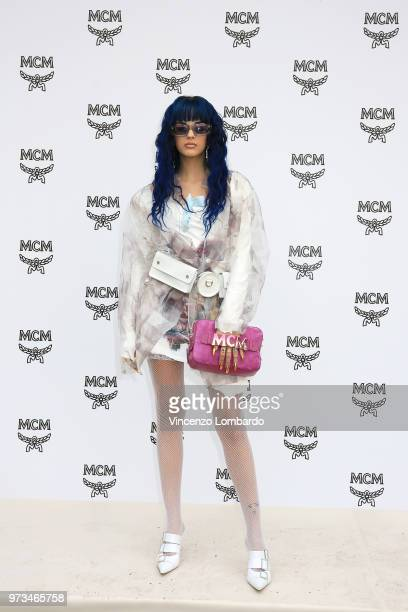 Sita Abellan attends the MCM Fashion Show Spring/Summer 2019 during the 94th Pitti Immagine Uomo on June 13 2018 in Florence Italy