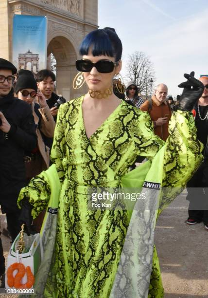 Sita Abellan attends the OffWhite Menswear Fall/Winter 20192020 show as part of Paris Fashion Week on January 16 2019 in Paris France