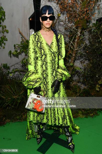 Sita Abellan attends the OffWhite Menswear Fall/Winter 2019/2020 show as part of Paris Fashion Week on January 16 2019 in Paris France