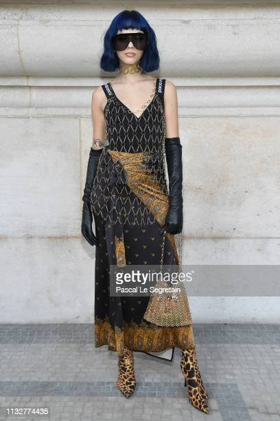 Sita Abellan attends the Paco Rabanne show as part of the Paris Fashion Week Womenswear Fall/Winter 2019/2020 on February 28, 2019 in Paris, France.