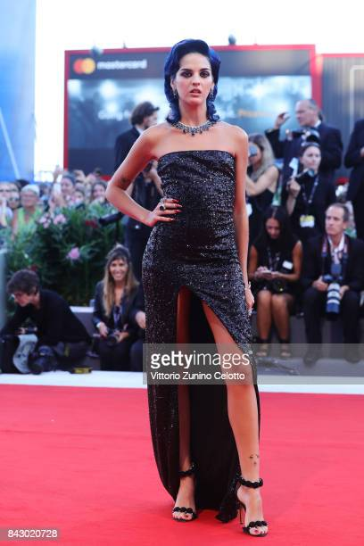 Sita Abellan walks the red carpet ahead of the 'mother' screening during the 74th Venice Film Festival at Sala Grande on September 5 2017 in Venice...