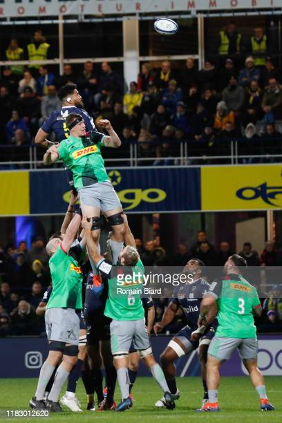 Sitaleki TIMANI of Clermont during the European Rugby Champions Cup Pool 3 match between ASM Clermont Auvergne and Harlequin FC on November 16 2019...
