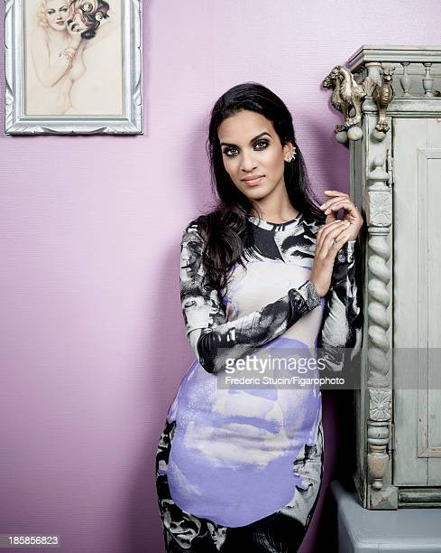 107259003 Sitar player Anoushka Shankar is photographed for Madame Figaro on June 27 2013 in Paris France Dress earrings PUBLISHED IMAGE CREDIT MUST...
