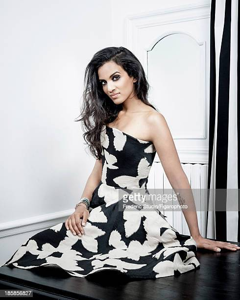 107259004 Sitar player Anoushka Shankar is photographed for Madame Figaro on June 27 2013 in Paris France Dress cuff bracelet PUBLISHED IMAGE CREDIT...