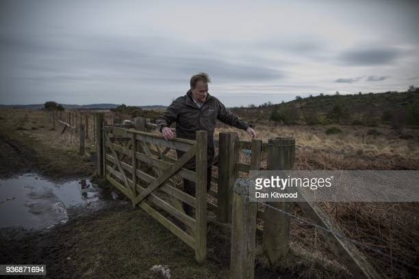 Site manager Andy Howard walks across the Doddinton site on March 22 2018 in Doddington England The Doddington North Afforestation project has begun...