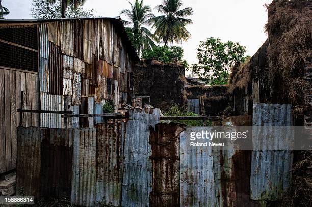 Site of crumpling old houses in Mawlamyine it was the first capital of British Burma in the 19th century It's the main city of the Mon State on the...