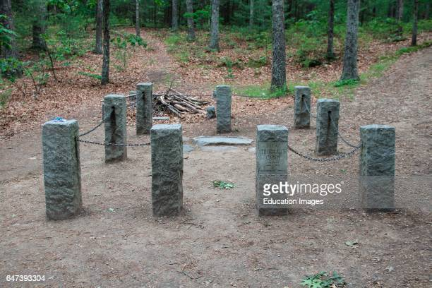 Site of Henry David Thoreau's cabin near Concord Massachusetts
