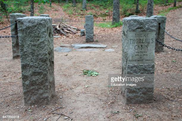 Site of Henry David Thoreau's cabin near Concord Massachusetts