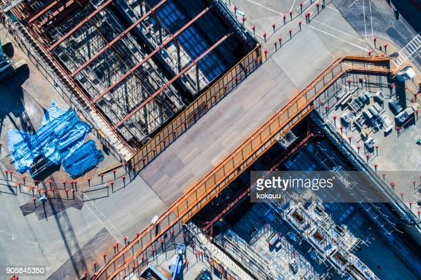 site of road construction. - barrier highway stock photos and pictures