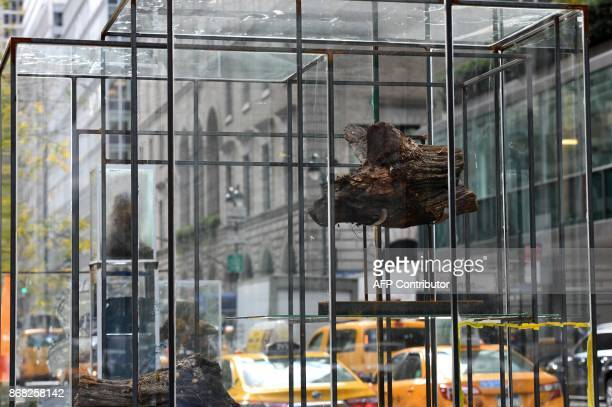 A sitespecific installation titled the City by Brooklynbased artist Rob Fischer is seen on Park Avenue in New York October 30 2017 The multifaceted...